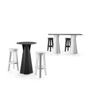 Kültéri bisztró asztalok és bárasztalok