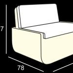 Fotelok / BOLD ARMCHAIR LIGHT