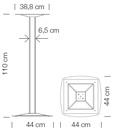 Bisztróasztalok és Bárasztalok / ax 511a  - bárasztal