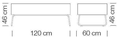 Moduláris ülőbútorok / abaco+ 816 - kanapé rendszer - puff