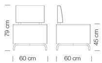 Moduláris ülőbútorok / dado 260 - kanapé rendszer