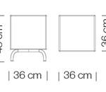 Moduláris ülőbútorok / dado 263 - kanapé rendszer - puff