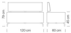 Moduláris ülőbútorok / dado 264 - kanapé rendszer