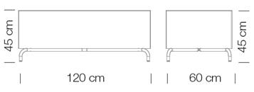 Moduláris ülőbútorok / dado 266 - kanapé rendszer - puff