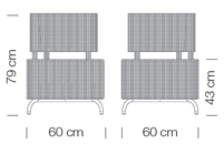 Kültéri Kanapék / dado 268 - kanapé rendszer