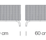 Kültéri Kanapék / dado 269 - kanapé rendszer - puff