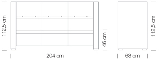 Moduláris ülőbútorok / giano+ 807 - kanapé