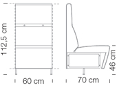 Moduláris ülőbútorok / giano 791 - kanapé