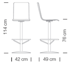 Bárszékek / Luna 330 - bárszék