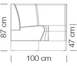 Kanapék / space 242 - kanapé rendszer
