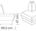 Kanapék / space 243 - kanapé rendszer