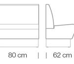 Moduláris ülőbútorok / space 250 - kanapé rendszer