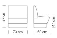Moduláris ülőbútorok / space 251 - kanapé rendszer