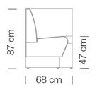Moduláris ülőbútorok / space 252 - kanapé rendszer