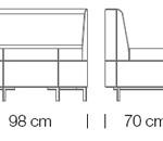 Moduláris ülőbútorok / abaco 759 - kanapé rendszer