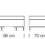 Moduláris ülőbútorok / abaco 761 - kanapé rendszer - puff