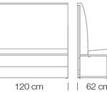 Moduláris ülőbútorok / space 249 h120 - kanapé rendszer