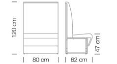 Moduláris ülőbútorok / space 250 h120 - kanapé rendszer