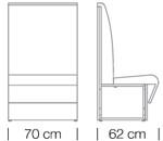 Moduláris ülőbútorok / space 251 h120 - kanapé rendszer