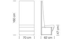 Moduláris ülőbútorok / space 251 h160 - kanapé rendszer