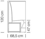 Kanapék / space 252 h120 - kanapé rendszer