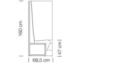 Moduláris ülőbútorok / space 252 h160 - kanapé rendszer