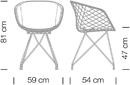 Étkezőszékek / Uni-Ka 596M - étkezőszék