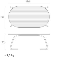 Étkezőasztalok / Loto Dinner 190 - kültéri asztal
