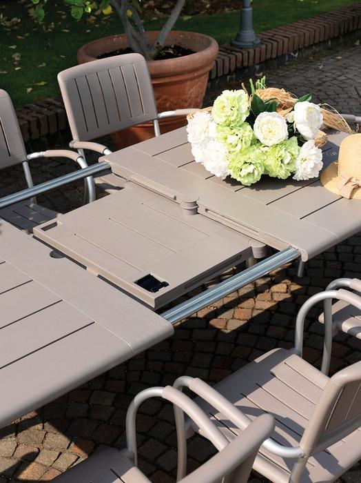 Étkezőasztalok / Maestrale 220 - bővíthető kültéri asztal