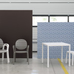 Étkezőasztalok / Cube 80 - kültéri asztal