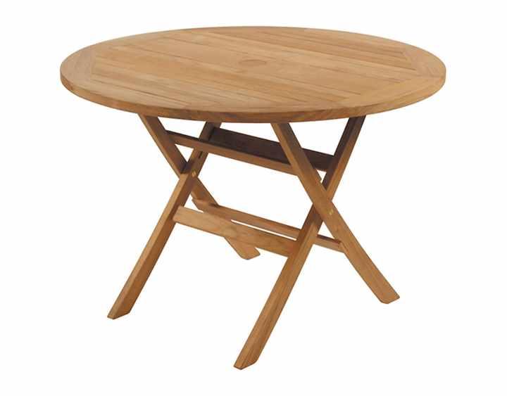 Kültéri étkezőasztalok / Ascot 110 - kültéri teakfa étkezőasztal