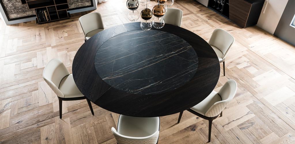 Étkezőasztalok / Skorpio Round Ker-Wood - étkezőasztal