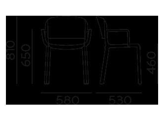 Étkezőszékek / Dome 265 - étkezőszék