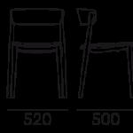 Étkezőszékek / NEMEA 2821 - étkezőszék