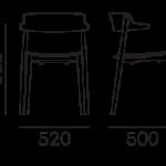 Étkezőszékek / NEMEA 2825 - étkezőszék