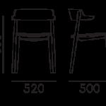 Étkezőszékek / NEMEA 2826 - étkezőszék