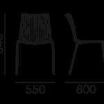 Étkezőszékek / NOLITA 3651 - étkezőszék
