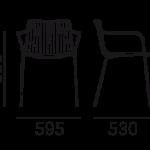 Étkezőszékek / NOLITA 3655 - étkezőszék
