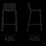 Bárszékek / NOLITA 3657 - bárszék