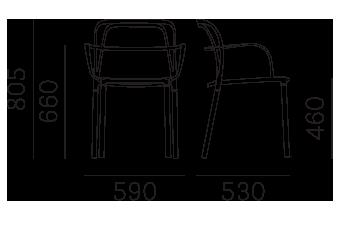 Étkezőszékek / INTRIGO 3715 - étkezőszék