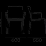 Étkezőszékek / VOLT HB 674_2 - étkezőszék