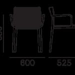 Étkezőszékek / VOLT 676 - étkezőszék