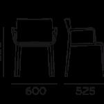 Étkezőszékek / VOLT HB 676_2 - étkezőszék