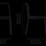 Étkezőszékek / TWEET 890_2 - étkezőszék