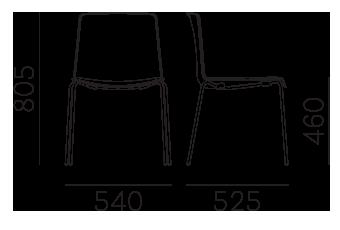 Étkezőszékek / TWEET 890 - étkezőszék
