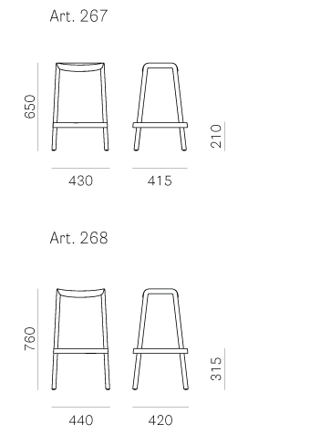 Bárszékek / Dome 267 - bárszék
