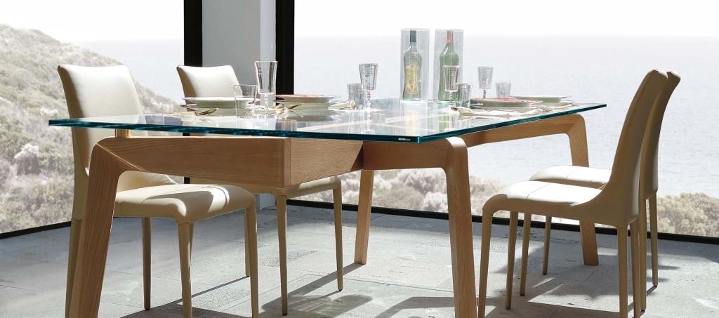Étkezőasztalok / Glide Glass - étkezőasztal