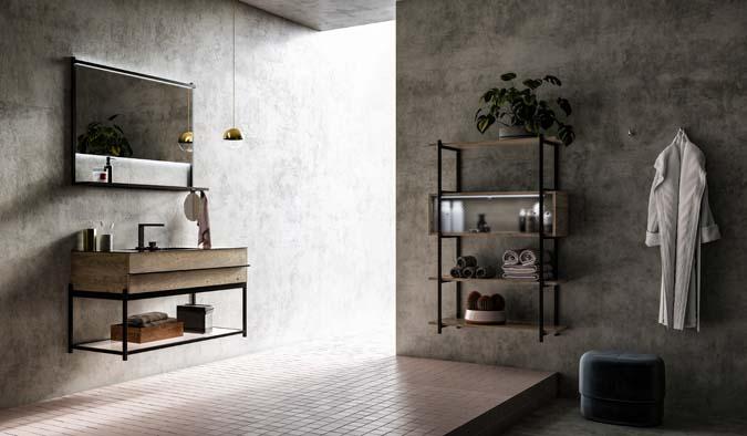 Fürdőszoba / Sidero_5 - fürdőszoba bútor kompozíció