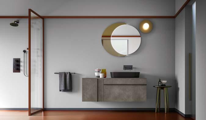 Fürdőszoba / Sidero_6 - fürdőszoba bútor kompozíció