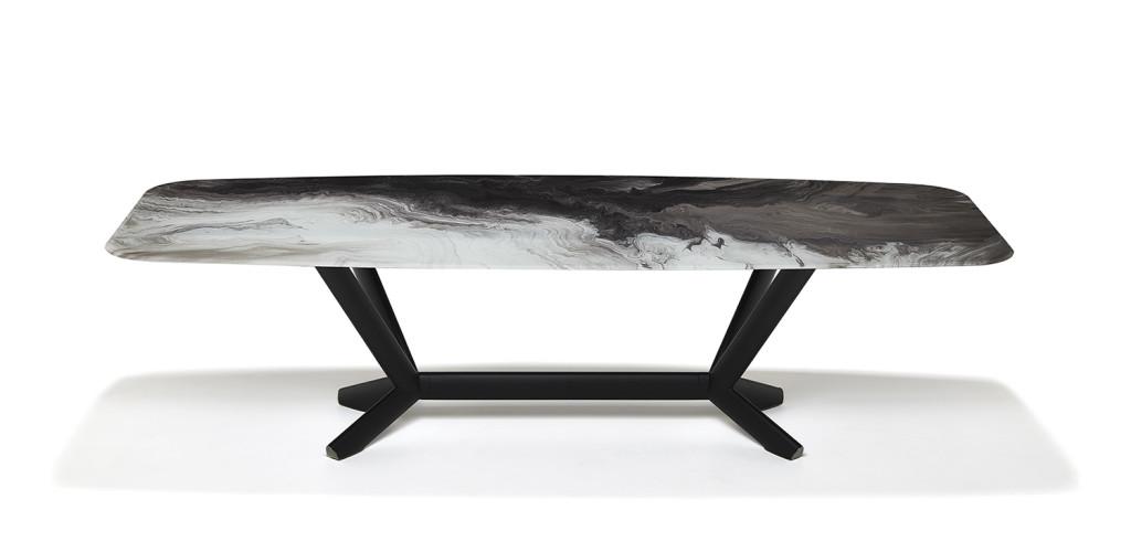 Étkezőasztalok / PLANER CRYSTALART - étkezőasztal